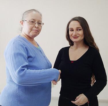 Елена Жигалова и Ольга Халимова